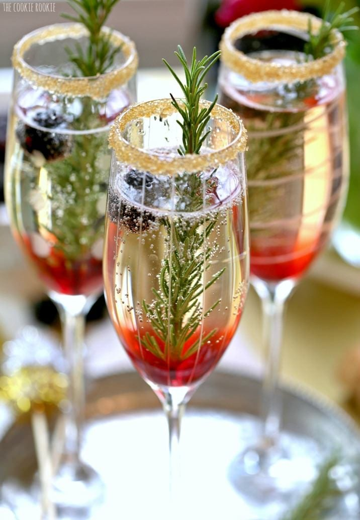 25 holiday cocktails to try afternoon espresso for Champagne mixed drinks